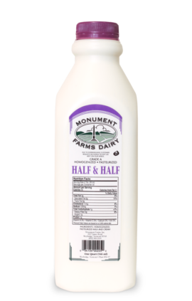 A quart of Monument Farms local half and half.