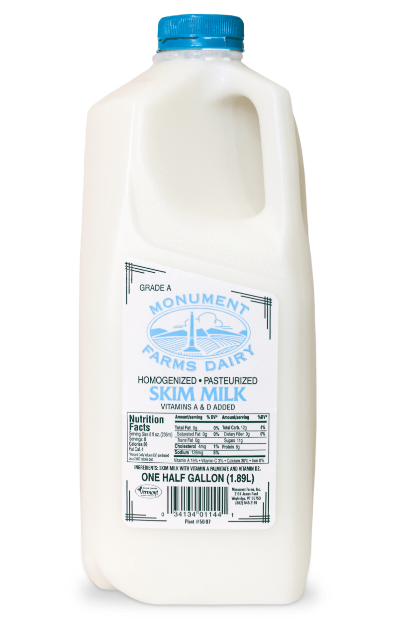 Skimmed Milk Teen And: Monument Fresh Vermont Dairy Distributor